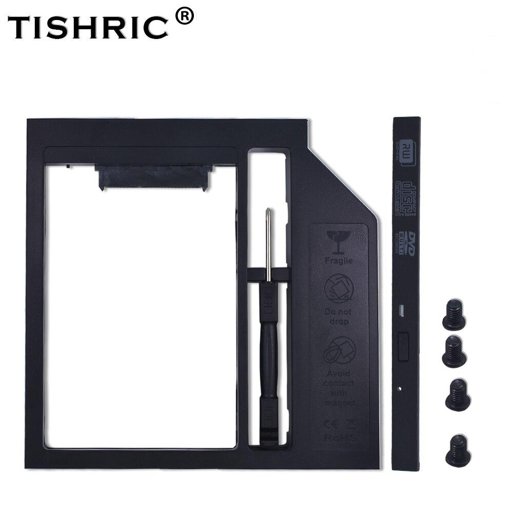 TISHRIC пластик 2nd HDD Caddy 9,5 мм SATA 3,0 Optibay коробка для жесткого диска корпус 2,5 SSD корпус DVD адаптер для ноутбука CD-ROM