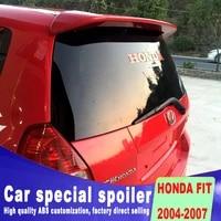 high quality factory original design rear window wings spoiler for honda fit 2004 2005 2006 2007 by primer spoilers