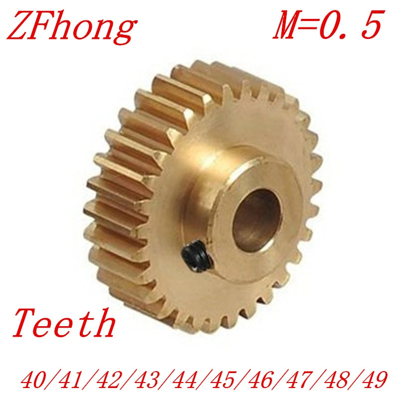 2 TEILE/LOS 0,5 Mt 40 41 42 43 44 45 46 47 48 49 Zähne Messing Schritt Stirnradgetriebe cnc-drehmaschine bearbeitung teile