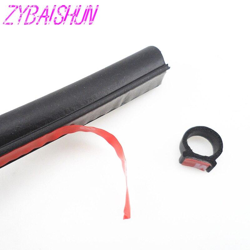 ZYBAISHUN 2-8 m gran tipo D waterproofsoundproofing sellador tira de sellado de goma para Kia Hyundai Chevrolet Opel Mitsubishi