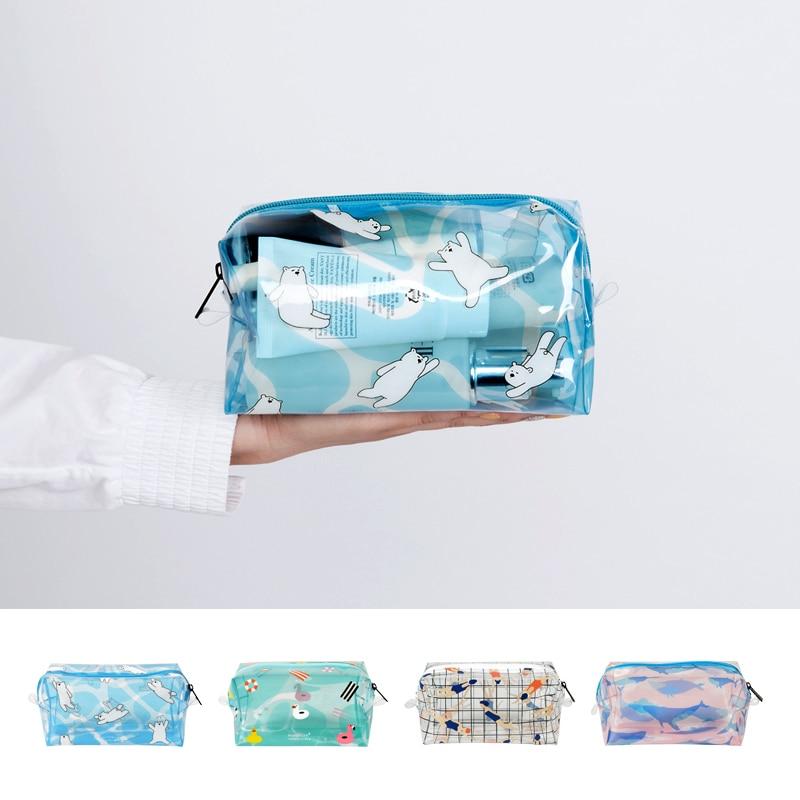 Bentoy Brand Lucency Makeup Bag Women Cosmetic bag Case Make Up Storage Organizer Toiletry Bag Fashion Girls Travel Wash Pouch