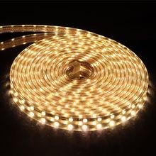 220 V LED bande lumière 5050 ruban LED étanche IP67 lumineux que 5630 2835 3528 LED bande blanc chaud blanc rouge vert bleu