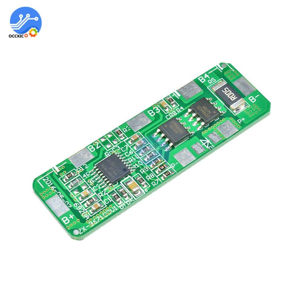 Bms 4S Li-Ion 18650 de protección de la batería de litio placa PCB BMS balance 4,25-4,35 V a 2,3-3,0 V con protección superior 4-5 a recargable