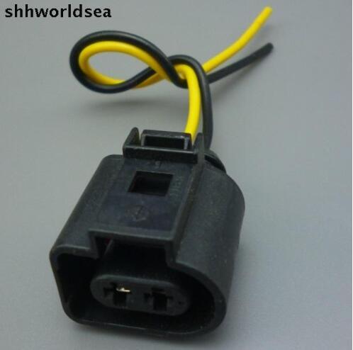 Shhworldse 2 Pin противотуманная фара вилка подключения соединитель Pigtail для Audi A6 Allroad Quattro VW Jetta Golf GTI MK4 Passat 1J0973722