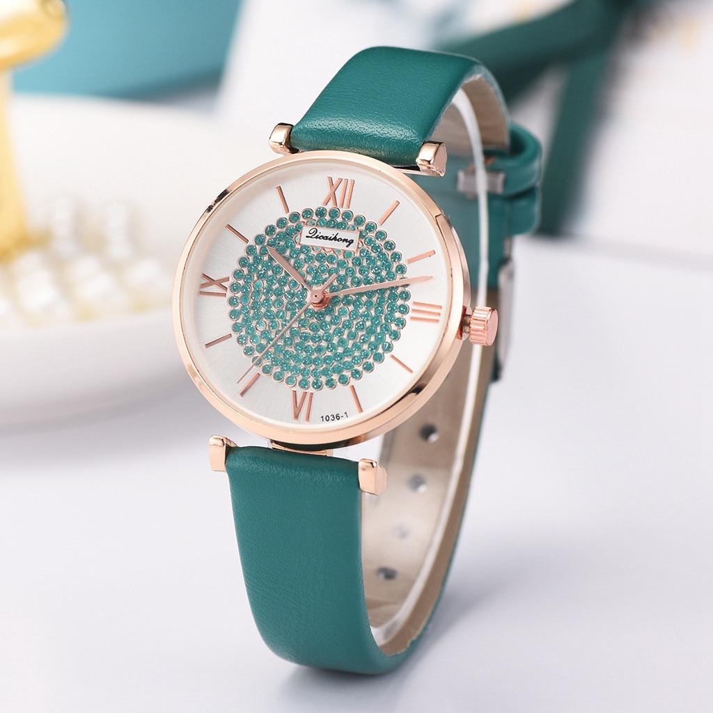 Reloj de cuarzo para mujer, reloj de cuarzo, reloj silencioso montre homme 50