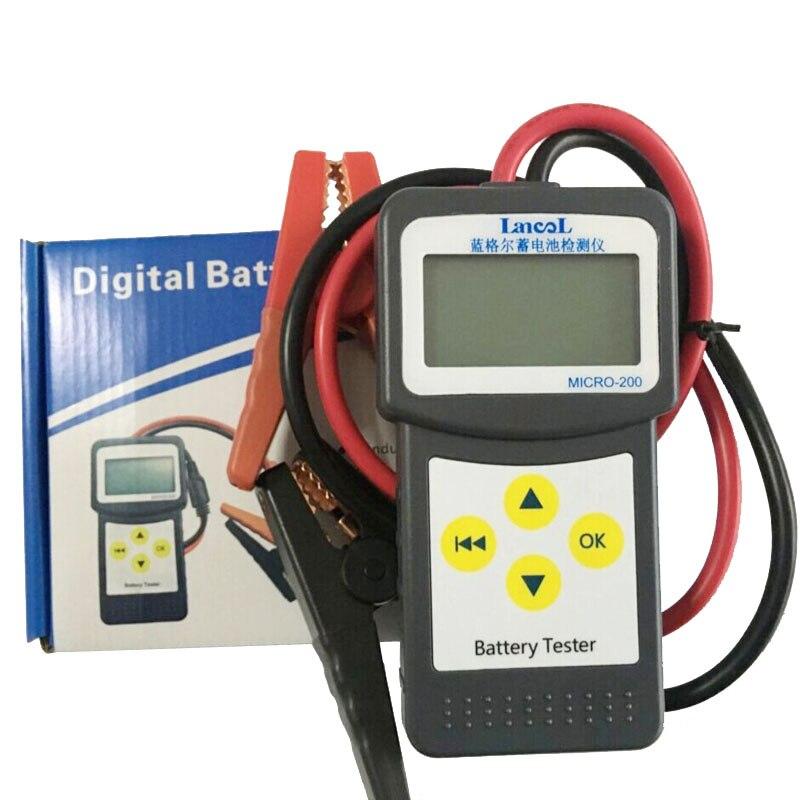 MICRO-200 помощи при парковке Батарея цифровой CCA Батарея анализатор автомобиля Батарея Тестер 12V диагностический инструмент