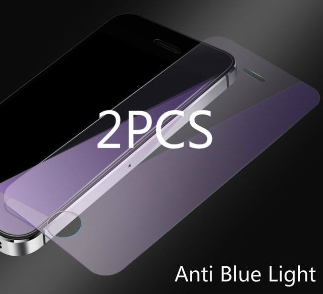 2pcs 2.5D HD Tempered Glass On For IPhone 5S 5 SE 5C Screen Protector 9H Anti Blue Light Protective