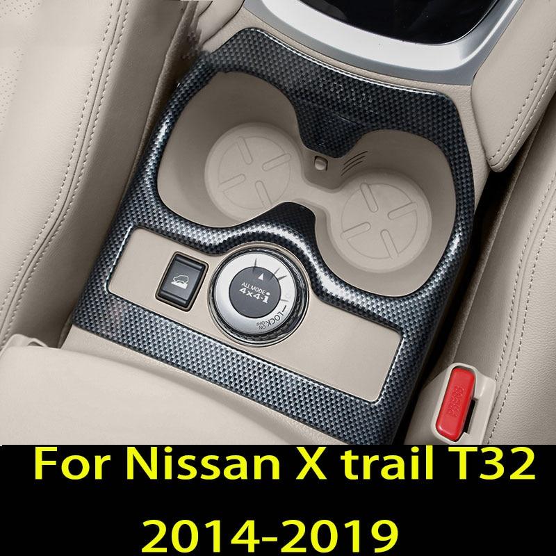 Para Nissan X trail T32 x-trail 2014-2019 taza de agua marco decorativo pegatina taza marco accesorios de decoración del coche