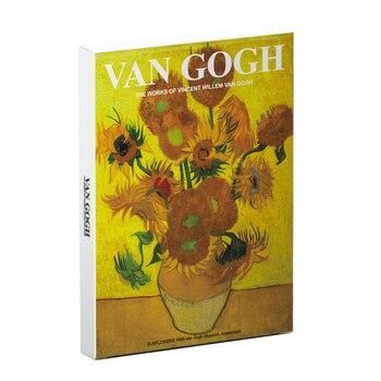 30 sheets/pack Vintage Flower Design Postcard Paper Van Gogh Paintings Design Card Greeting Envelope Birthday Gift Stationery