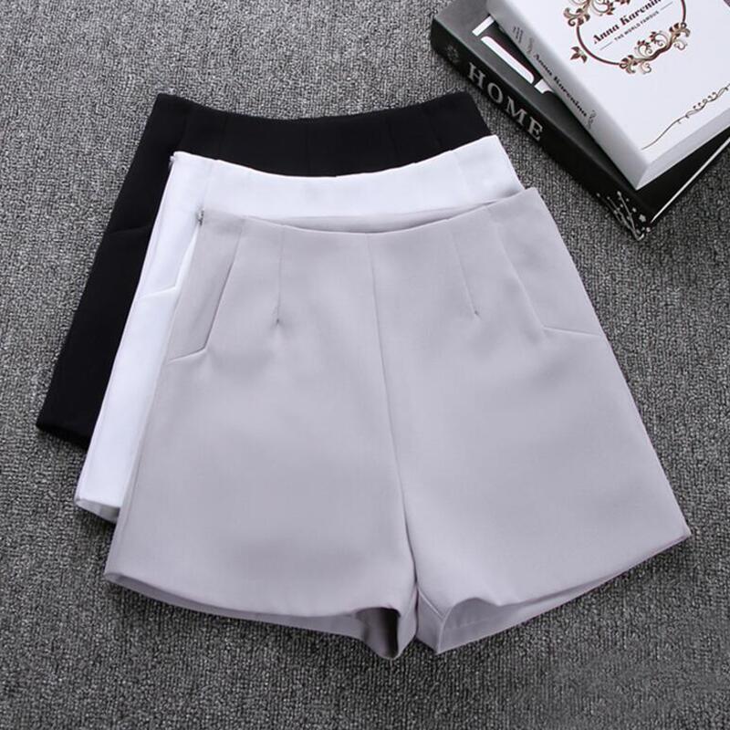 2019 nuevo verano moda popular nueva falda tipo pantalón corto para mujer de cintura alta traje de pantalones cortos blanco y negro para mujeres pantalones cortos Shorts Mujer