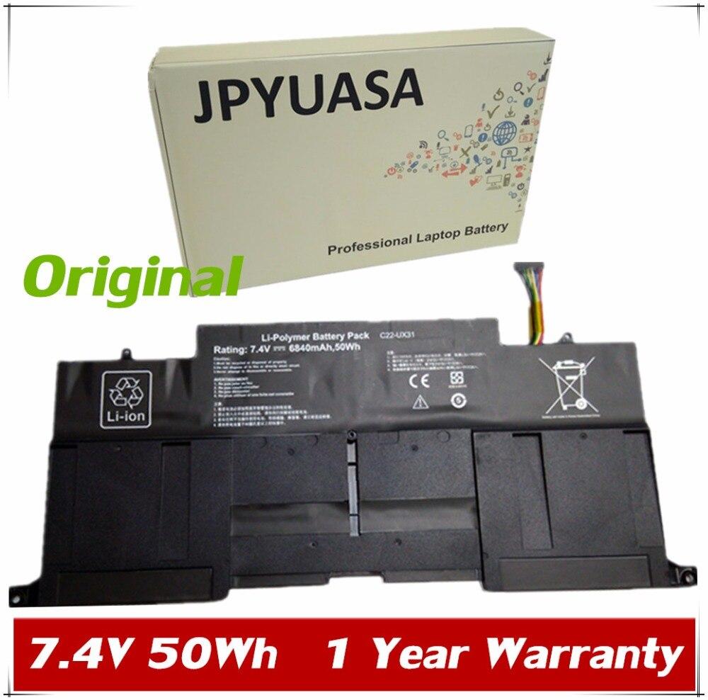 7XINbox 7,4 V 50Wh, batería para ordenador portátil, C21-UX31 C22-UX31 C23-UX31 para...