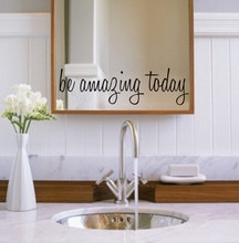 Increíble hoy vinilo adhesivos de pared con frase Poster espejo baño casa decoración Mural artístico de manualidades adhesivos removibles para pared B1