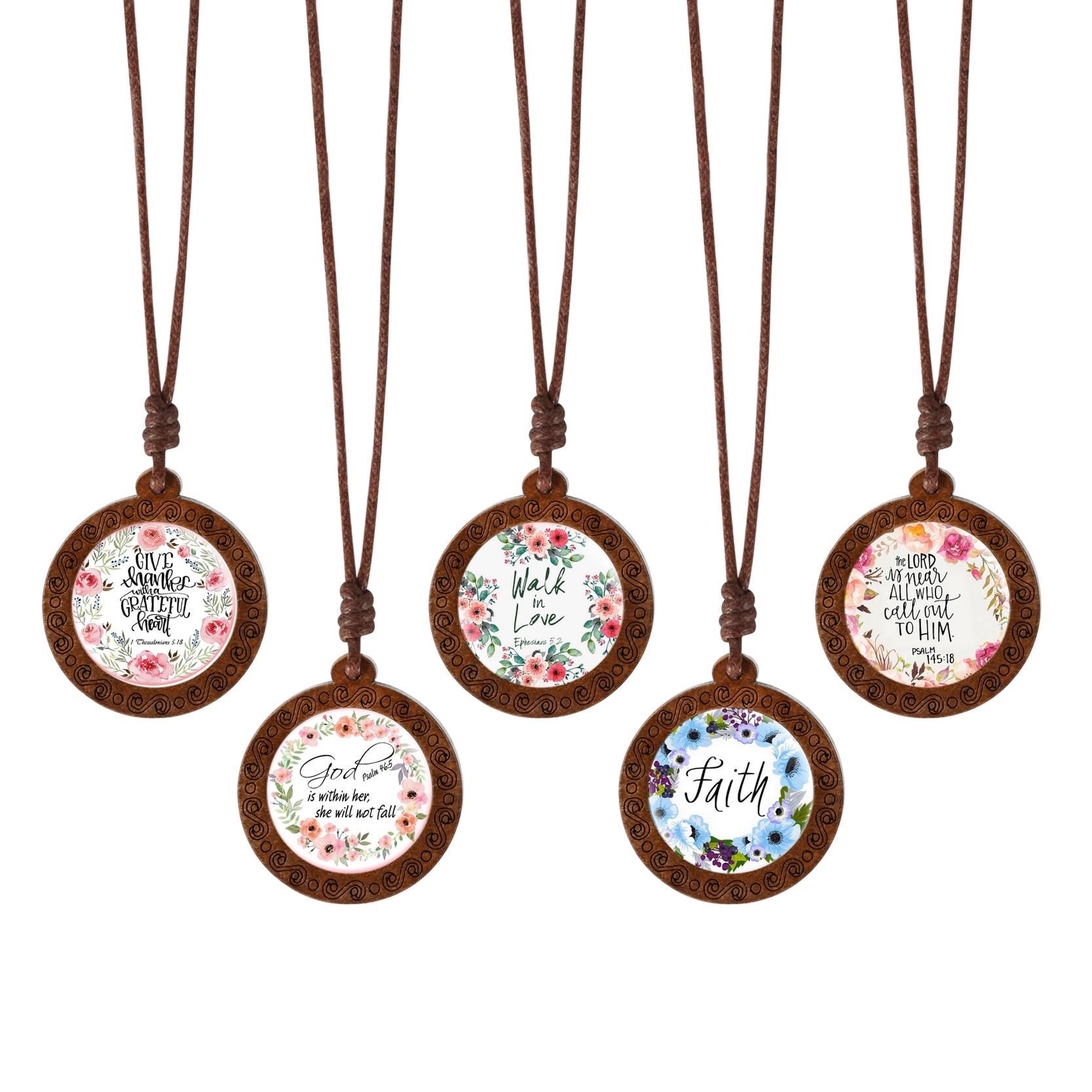 5 unids/lote, venta al por mayor, cabujón de madera hecho a mano, verso bíblico, escritura, citar collar, joyería cristiana para mujeres