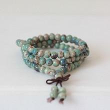 6mm Beads Strand Bracelets for Women Ceramic beads Bracelet Reiki Healing Prayer Chakra Bracelet Drop Shipping