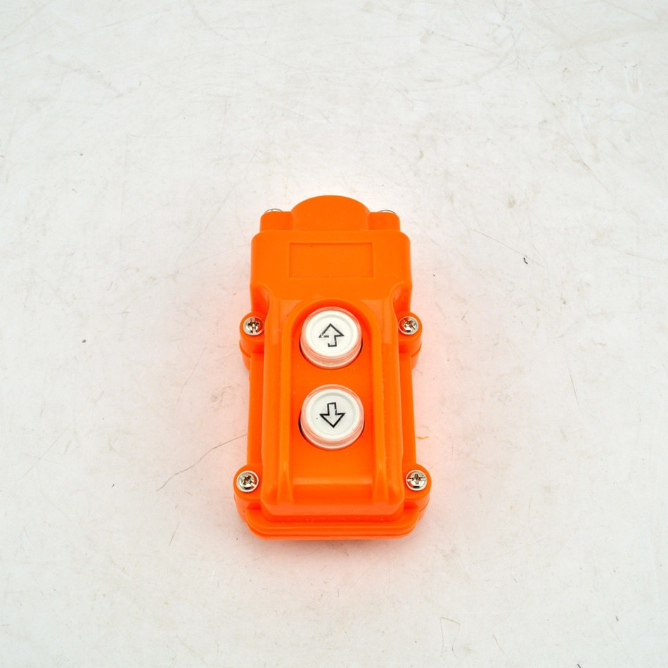 COB-61 SiIver Contact Up Down pulsador grúa Hoist interruptores botón a prueba de agua COB61
