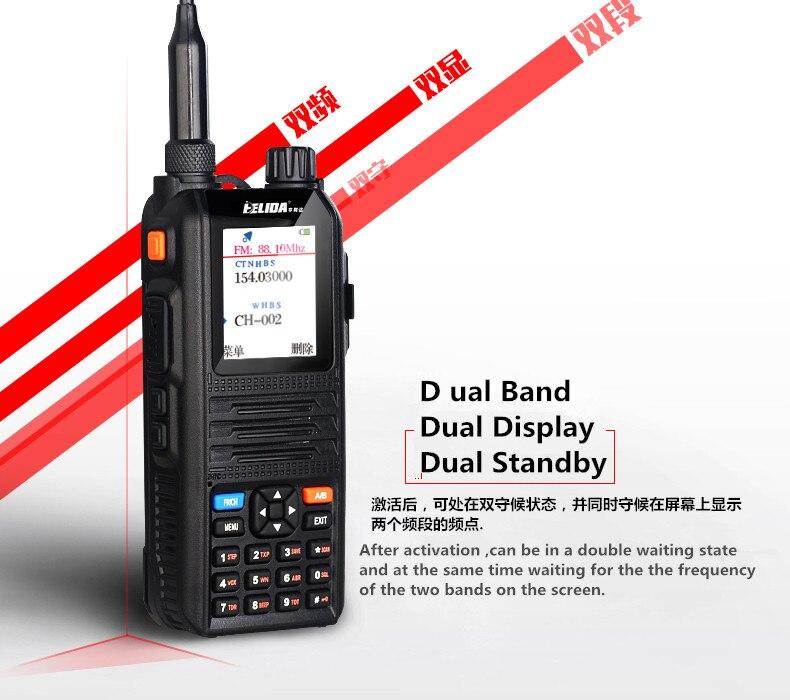 Tri-banda walkie talkiecomunicador radio 5w HENGLIDA CP-UV2000 de dos vías de radio VHF/UHF 136-174/400-520 MHz walkie talkie altavoz