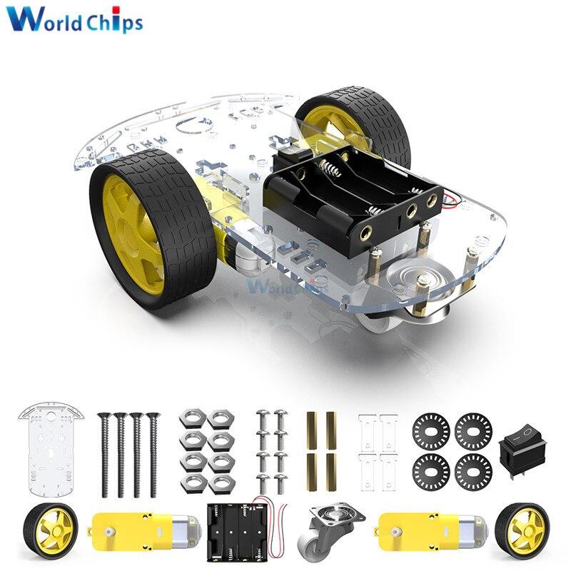Diymore 2wd robô kits de chassis do carro inteligente diy kit com codificador velocidade para arduino 51 m26 diy educação robô carro inteligente kit