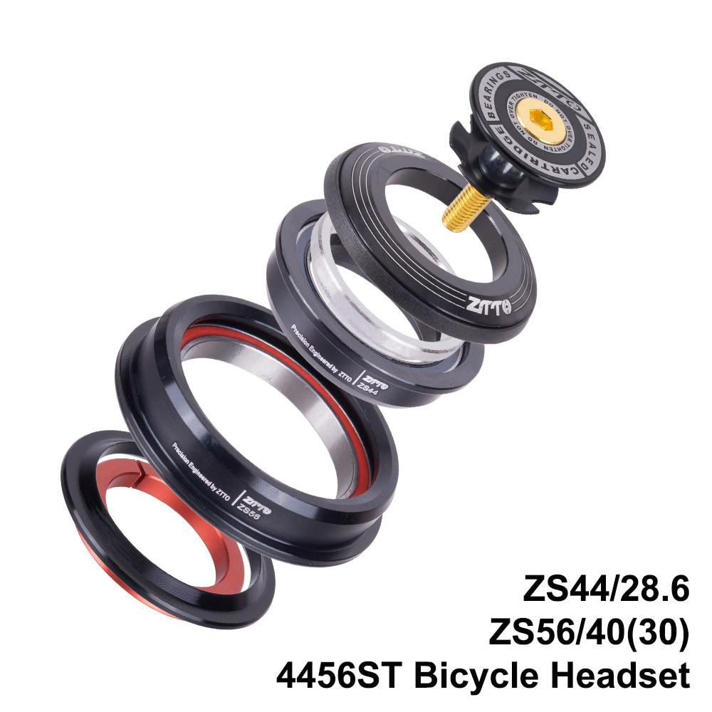 "Casco cónico MTB para bicicleta de carretera 44mm 56mm CNC 1 1/8 ""-1 1/2"" tubo cónico horquilla contacto Angular integrado rodamiento 4456ST"