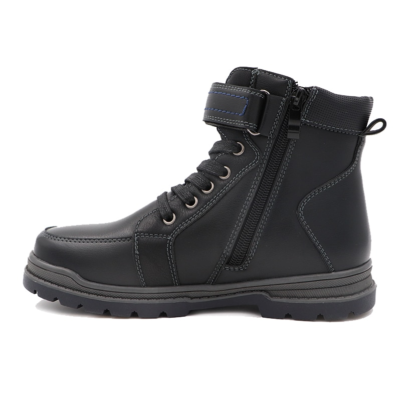 Winter Waterproof Boys Felt  Boots Pu Leather Mid-Calf Children's Shoes Warm Plush Rubber Winter Snow Boots for Boys EU 32-37 enlarge