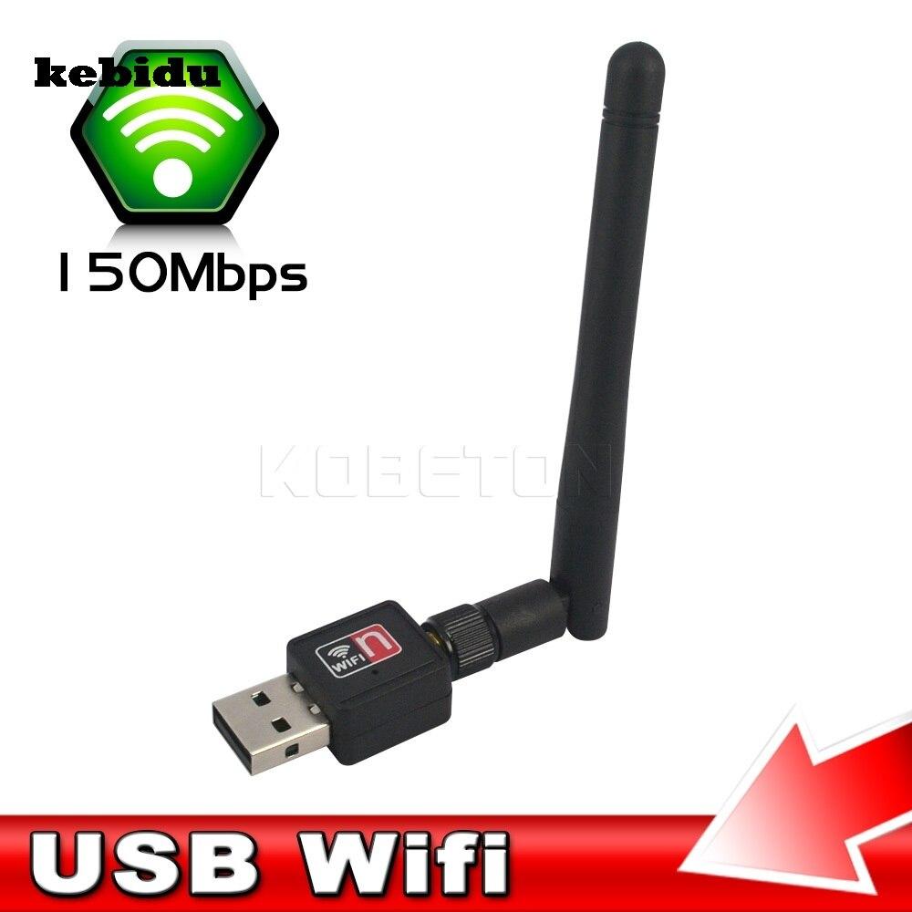 Kebidu Mini PC Wi-fi Adaptador de 150 m USB Receptor Wi-fi Antena Externa Sem Fio PC Computador Placa de Rede 802.11n/g /b LAN