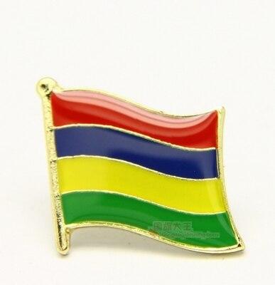 Bandera Nacional, Pin de solapa de Metal Pin Bandera de Mauricio