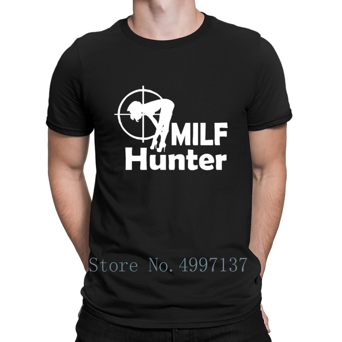 Milf Hunter T Shirt Kawaii Sunlight Authentic 100% Cotton Pattern Spring Autumn Round Neck Knitted Shirt
