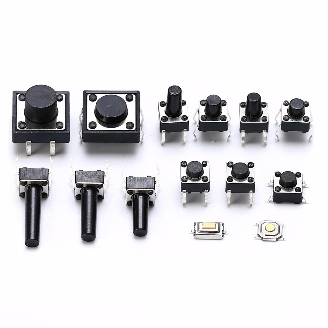 Commutateurs tactiles   Nouveaux commutateurs à bouton-poussoir, type 14, bouton-poussoir momentané Tact Miniature, commutateurs à bouton-poussoir 140 pièces
