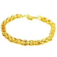 fashion wrist chain yellow gold filled womens mens bracelet link chain