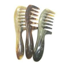 MC peigne chaud démêlant brosse à cheveux Shujin actif Massage peigne naturel Yak corne large dent épaissir cheveux shampooing brosse façonnage outil