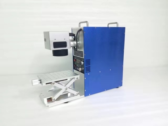 20w Portable Mini Metal Fiber Laser Marking Machine Jewelry Engraving Stainless Steel gold silver ring pedant CNC carving