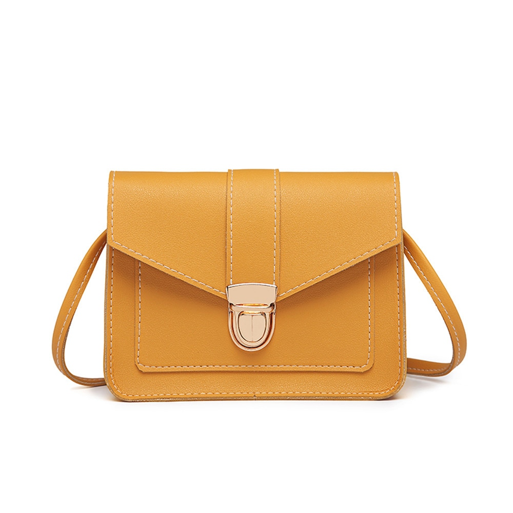 Small Crossbody Bags For Women 2019 Mini PU Leather Shoulder Messenger Bag For Girl Yellow Bolsas Ladies Phone Purse #T10