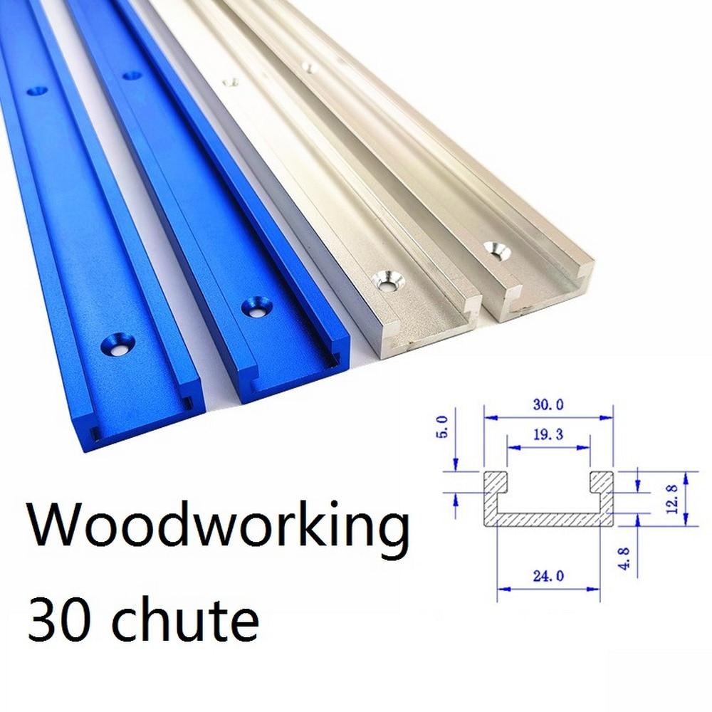 300 400 500 600 800MM do obróbki drewna T śruba T suwak ciśnienia blok ze stopu Aluminium ze stopu Aluminium T-tory prowadnica ukośna jig oprawa Router