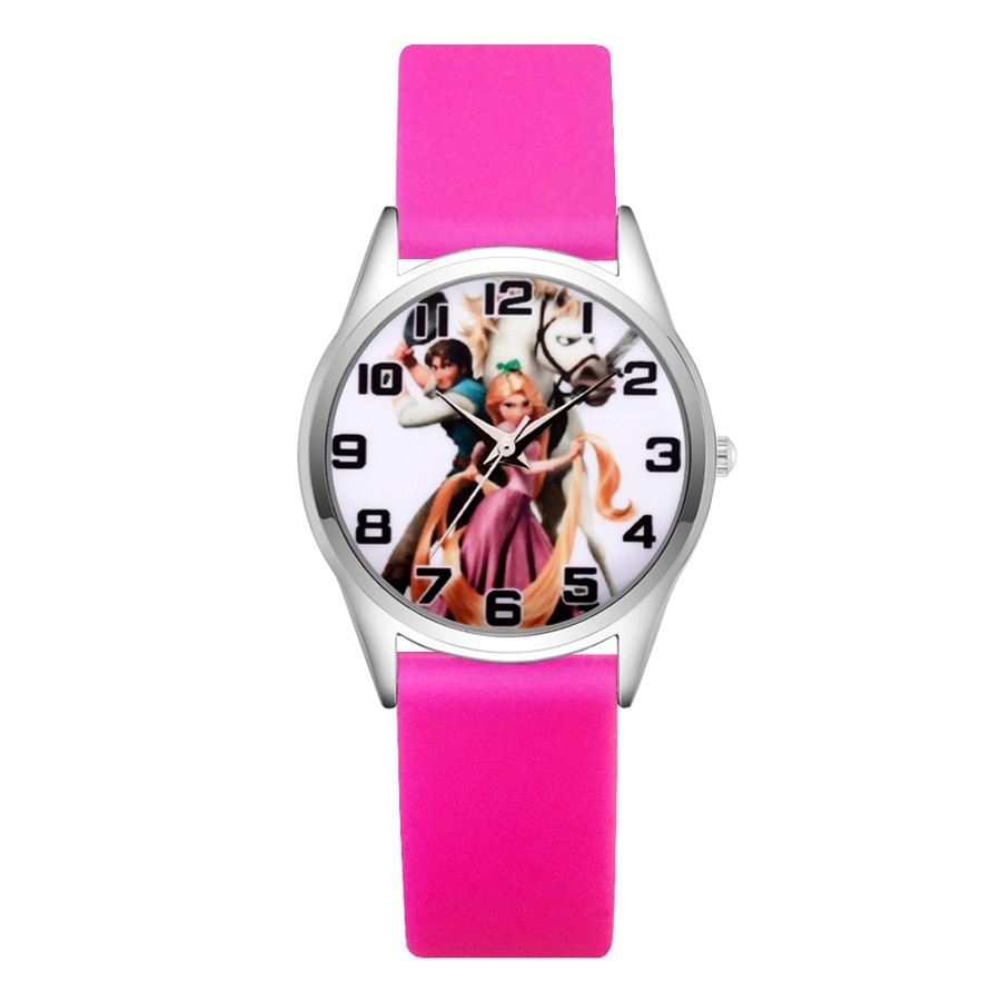 Cartoon pretty Tangled Rapunzel style Children's Watches Women's Students girls Boys Quartz Soft Silicone strap Wrist Watch JC22