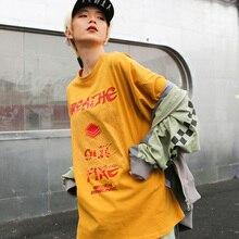Dragon Print Vogue Style T-shirt  Women O-Neck Drop Shoulder Street Tee Shirts  Summer 2019 Streetwear T shirts Woman Clothing