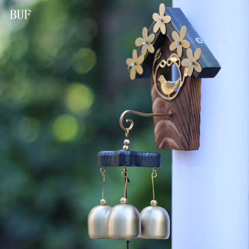 Медные колокольчики в виде птичьего гнездышка, античные украшения для дома, роскошные ретро украшения для стен, подарок