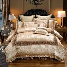 Ensemble de literie de mariage rouge doré   Parure de lit en coton, rouge, reine du roi, tache, ensemble couette/housse de couette, housse épaisse, ensemble oreiller