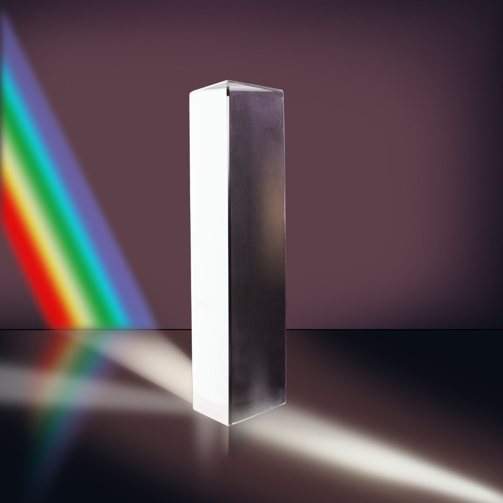 "Neewer 2.5""/6cm Optical Glass Triple Triangular Prism Physics Teaching Light Spectrum Photo Studio Accessaries"