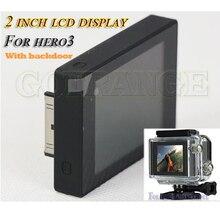 "Go Pro Hero 3 HD 2.0"" TFT LCD Display + Waterproof Housing BacPac Back door For Gopro Hero 3 BLACK,SILVER,WIHTE Accessories"