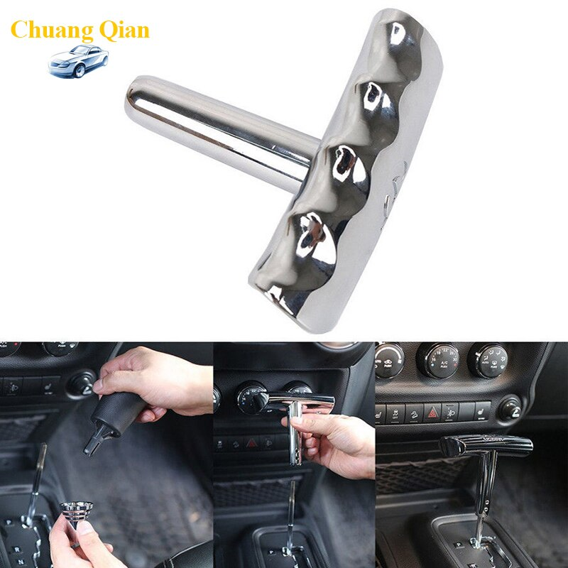 Perilla de cambio de palanca con mango en T de aleación de Zinc Chuang Qian para Jeep Dodge Challenger/cargador/calibre/RAM/JCUV 2008-2015 accesorios para automóviles
