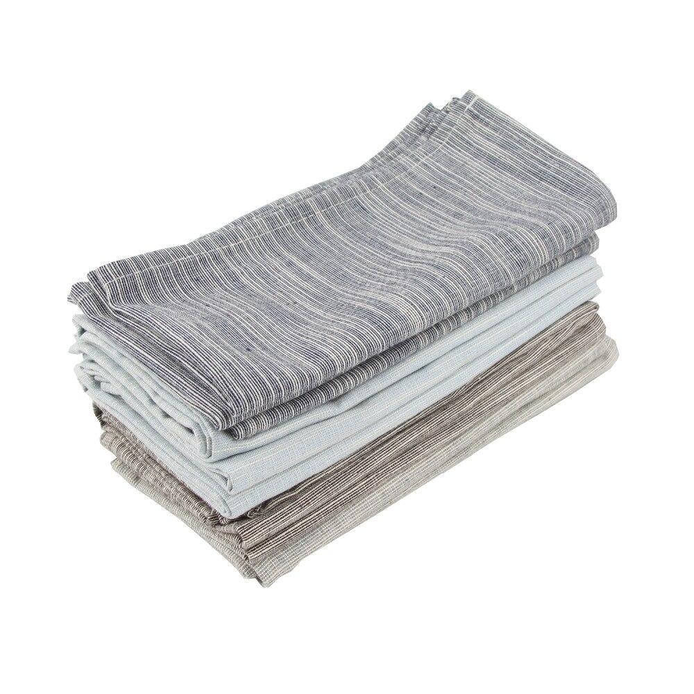 43x43cm servilletas de lino de algodón conjunto de salvamanteles de 12 servilletas de mesa de comedor de tela