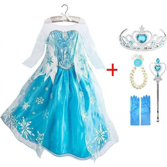 Vestido de Elsa para niña, disfraz de película personalizado, disfraz de Elsa...
