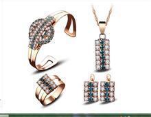 Viennois collier boucles doreille en cristal Rose, strass en cristal de Rose, Faux pendentifs en alliage de couleur, bijoux, bracelet, boucles doreille, bts, tour de cou de bricolage