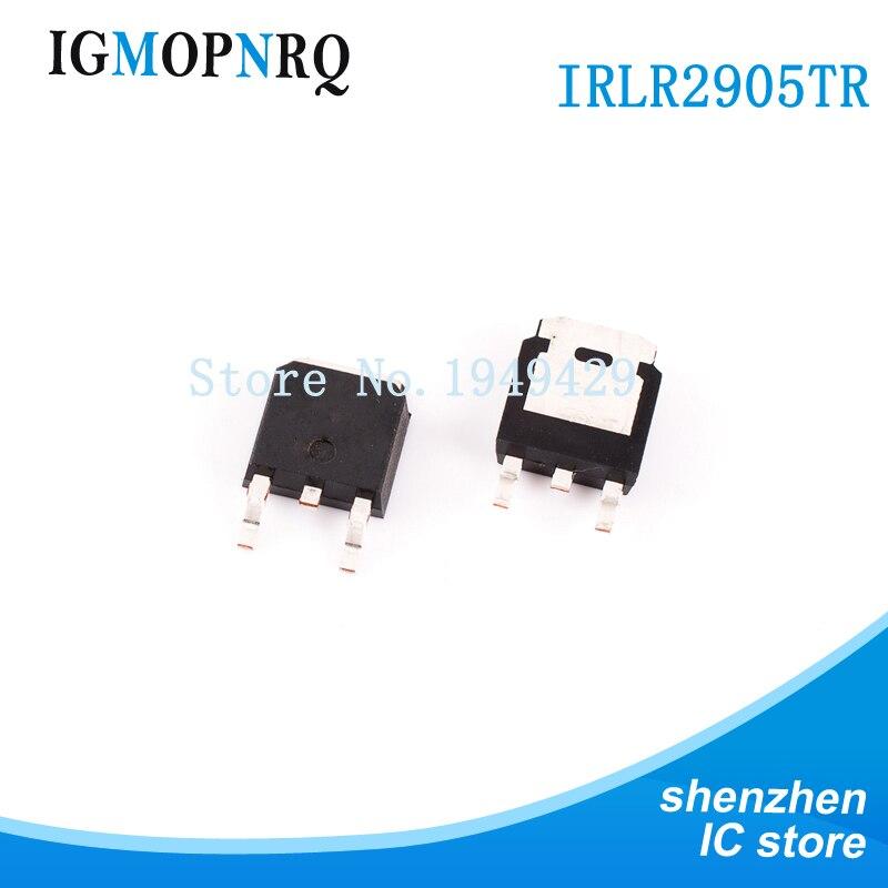 100 adet IRLR2905 TO-252 IRLR2905TRPBF MOSFET otomatik 55V 1 N-CH HEXFET 27mOhms yeni orijinal ücretsiz kargo