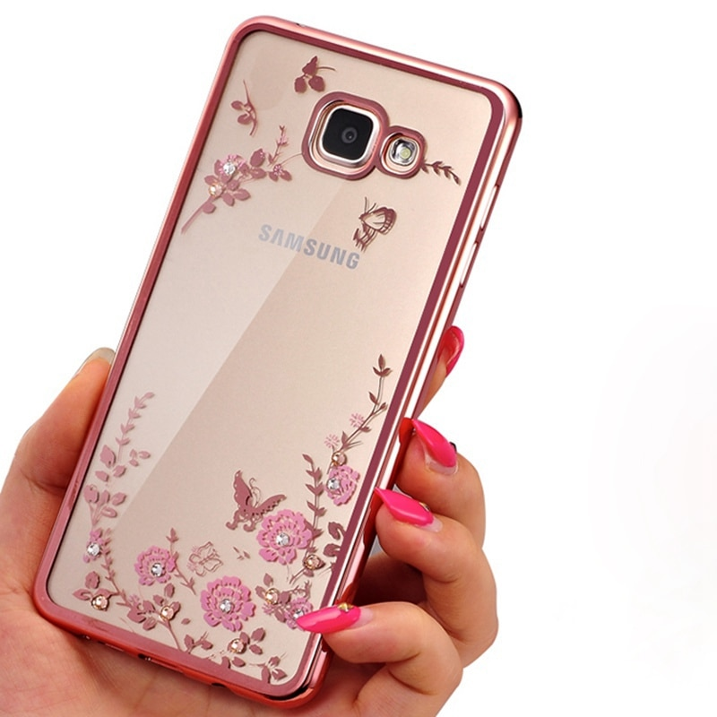Fundas florales de silicona para Samsung Galaxy S7 S6 edge S3 S4 S5 S8, funda para Samsung Galaxy A3 A5 A7 2017 J1 J5 J3 2016 J2 J5 Prime