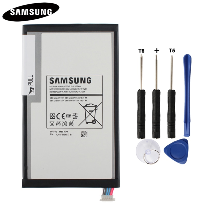 100% оригинальная батарея для планшета T4450E T4450C для Samsung GALAXY Tab 3 8,0 T310 T311 T315 настоящая Замена батареи 4450mAh
