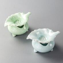 Tasse à thé porcelaine Kung Fu service à thé   Passoire à thé, feuille ample, filtre à thé en céladon, Infusor D017