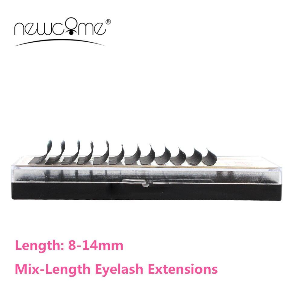 NEWCOME Mix Length Eyelash All Size Individual Eyelashes Extension Korea False Mink Eye Lash Silk Lashes Makeup Tools