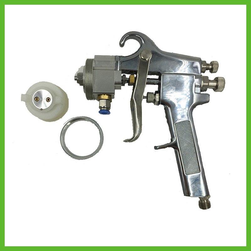SAT1182 pistola de alta presión HVLP PISTOLA DE PULVERIZACIÓN caliente en venta alta calidad cromo plata Hvlp pintura PISTOLA DE PULVERIZACIÓN de doble boquilla