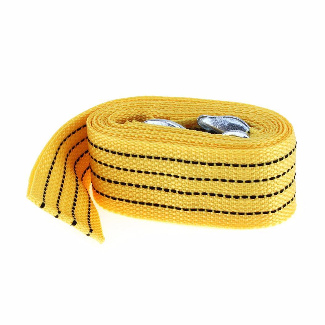 3 тонны 3 метра общего с 5 см/2 дюйма желтый Крючки кабель автомобиля Полосатый буксировочный трос 300 см/118,1 дюйма