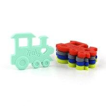 TYRY. HU 10 unids/lote tren juguete de sujeción de silicona accesorio de diente producto goma dentición Kit colgante regalo de silicona de grado alimenticio libre de BPA
